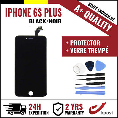 A+ LCD TOUCH SCREEN SCHERM ÉCRAN BLACK NOIR & VERRE TREMPÉ +TOOLS IPHONE 6S PLUS