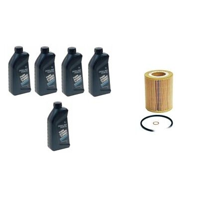 BMW High Performance 5W-30 Synthetic Motor Oil & Oil Filter Genuine NEW / Mann