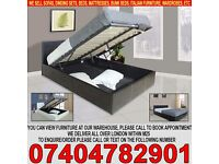 BRAND NEW SINGLE/DOUBLE/KINGSIZE LEATHER OTTOMAN STORAGE BED FRAME WITH MATTRESS OF CHOICE