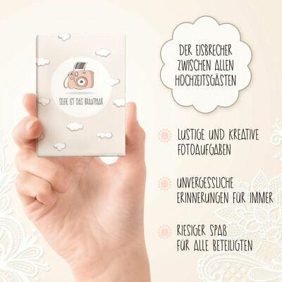 Nalara Selfie ist Das Brautpaar Das Spiel für die Hochzeit Fotoaufgaben Geschenk