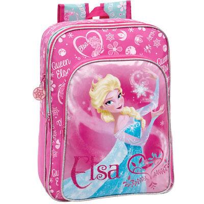 e272a3697d Zaino Scuola e Tempo Libero in Microfibra e PVC Disney Frozen Elsa Queen