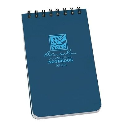 Rite In The Rain 235 All-weather Universal Spiral Notebook Blue 3 X 5