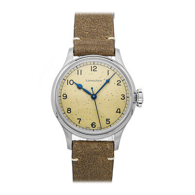 Longines Heritage Military Steel Auto 38mm Strap Mens Watch L2.819.4.93.2