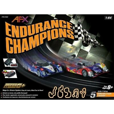 AFX Endurance Champions HO Slot Car Set with Digital Lap Counter - FREE SHIPPING