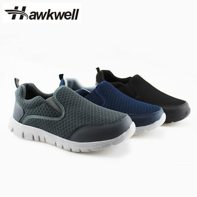 Mesh Men Sneakers - Hawkwell Men's Slip-On Loafer Performance Sport Sneakers Walking Shoes Mesh