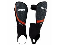 MITRE Visao IC Football Shinguard Shinpad - Black - Orange - SIZE L brand new - can post out