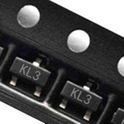 100pcs Bat54c Kl3 0.2a30v Sot-23 Schottky Barrier Diodes Smd Transistor