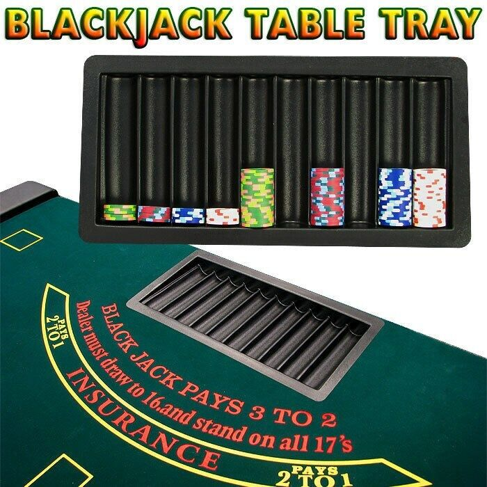 BlackJack Table Tray 10 Row Holds Up to 500 Poker Chips