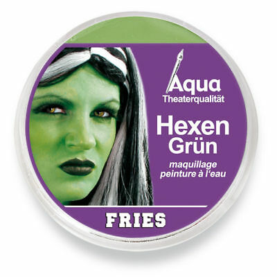 Grüne Aqua Schminke, 15 g, tolles Hexengrün für Halloween & Co.