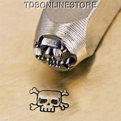 Metal Design Stamp By Impressart 6mm Skull And CrossBones