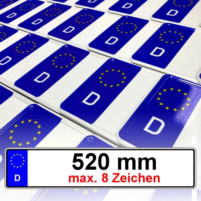 2 Stück EU Autoschilder | Kfz Kennzeichen | Nummernschilder | AMTLICH