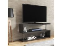 Brand New Artemis Grey High Gloss Geometric TV Unit Stand
