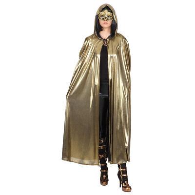 Umhang Venedig, gold, Einheitsgröße Cape Goldumhang  - Gold Cape Kostüm