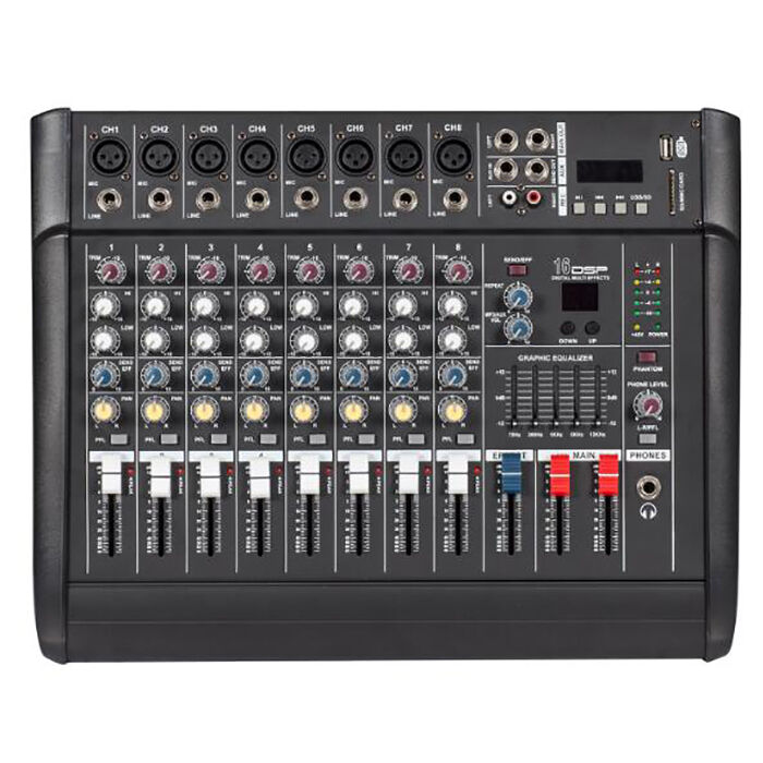 2000 watt 8 channel professional powered mixer power mixing amplifier amp 16dsp ebay. Black Bedroom Furniture Sets. Home Design Ideas