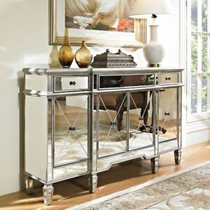 DEMPSEY MIRRORED CABINET - Living Expressions