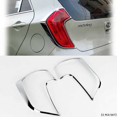 Chrome Rear Tail Light Lamp Cover Molding Trim for KIA 2007-2010 Picanto//Morning