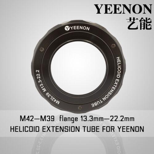 【YEENON】M42 to M39 x 13.3mm Focusing Helicoid Macro Extension Tube