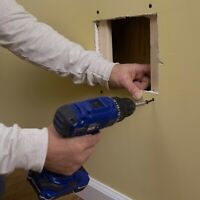 PRO DRYWALL REPAIRS- Patch Holes & Paint  + Water Damage Leak.