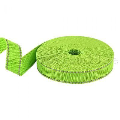 10m PP Gurtband - 30mm breit - 1,4mm stark - limone mit Reflektorstreifen (UV)