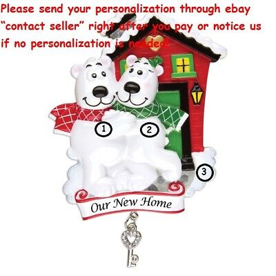 COUPLES OUR 1ST CHRISTMAS IN NEW HOME HOUSE PERSONALIZED CHRISTMAS TREE