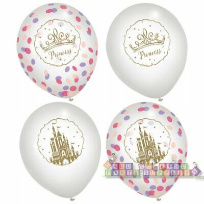 DISNEY PRINCESS Once Upon a Time CONFETTI-FILLED LATEX BALLOONS (6) ~ Birthday (Confetti Filled Balloons)