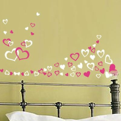 Up to 90 Various Hearts Bedroom Living Room Wall Art Window Stickers Kids Decals