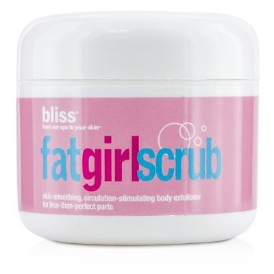 - Bliss Fat Girl Scrub Skin Smoothing, Stimulating Body Exfoliator, 2.7 Oz