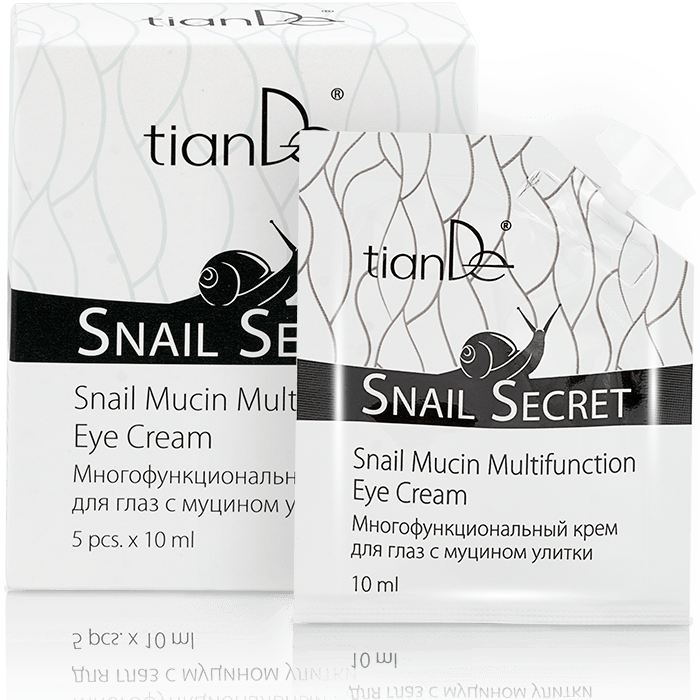SNAIL MUCIN MULTIFUNCTION ANTI WRINKLE SCRATCH MARKS EYE CREAM TIANDE 1x10ml