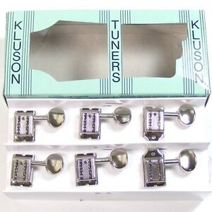 Kluson MC6LN Vintage Double Line Oval Tuners/machine heads, 6inline Nickel 8.5mm