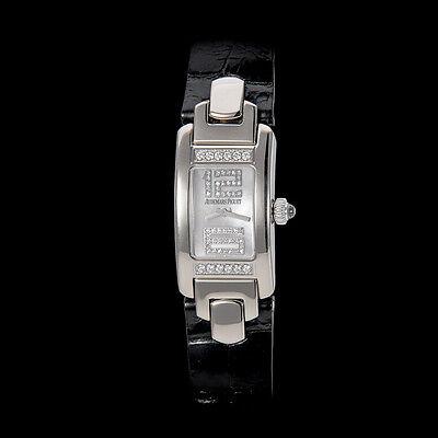 "Audemars Piguet 18K White Gold ""Promesse"" Ladies Flawless Diamond Watch. Mint"