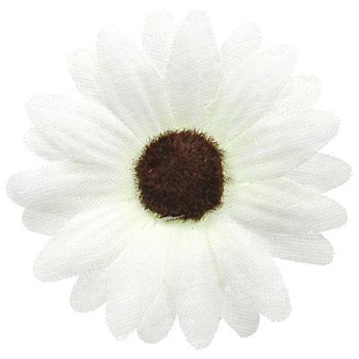 24 x Weiße Streu Blumen, je 5 cm, wunderschöne Tischdeko für Hochzeiten & Co.