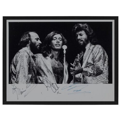 FRAMED Bee Gees Fully Signed / Autographed Photo Print