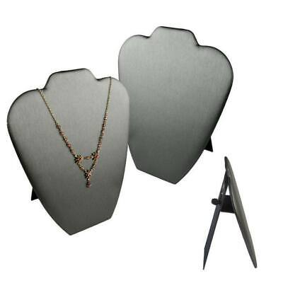 Steel Grey Easel Jewelry Necklace Display Stand Chains Pendant  6 or 12 Pcs