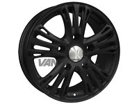 """Clearance stock sale!!! 18"""" Calibre Odyssey Alloy Wheels Matte Black to fit Ford Transit Van"""