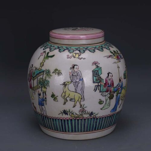 Chinese Antqiue Qing Famille Rose Porcelain Personality Teapot
