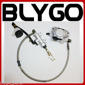 Hydraulic Rear Disc Brake Caliper System + Pads 150cc 250cc Quad Dirt Bike ATV