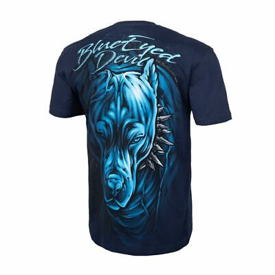 Blue Pit (Pit Bull West Coast T-Shirt BED Blue Eyed Devil Dark Navy 19 Pitbull)