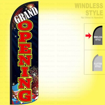 Grand Opening - Windless Swooper Flag 3x11.5 Ft Feather Banner Sign Kq98