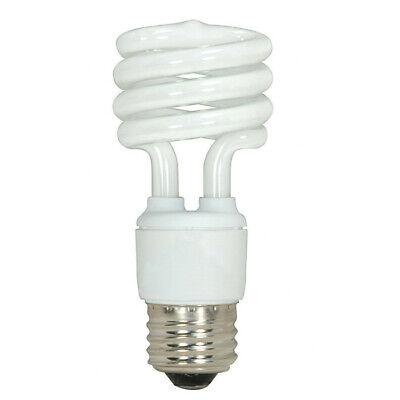 Satco S7217 13W T2 Ultra Mini Spiral Light Bulb Screw-In 2700K fluorescent
