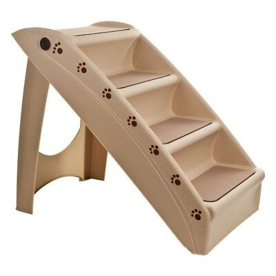 - Foldable Pet Stairs Dog Cat up to 100 Pounds 4 Steps 19 Inch High  15 Inch Wide