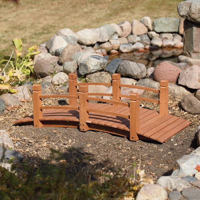 Top 7 wooden garden bridges ebay for Decorative fish pond bridge