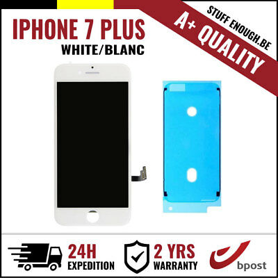 A+ LCD TOUCH SCREEN TACTILE SCHERM/ÉCRAN WHITE BLANC FOR IPHONE 7 PLUS+STICKER