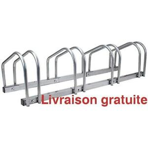 Support pour 4 velo / 4 Bicycle Floor Stand and Storage Rack
