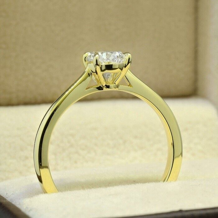 1.20 Ct Oval Cut Diamond Solitaire Engagement Ring H,VS2 GIA 14K YG or WG or RG 1