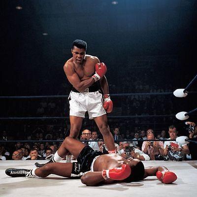 Muhammad Ali Vs Sonny Liston Boxing Poster   2 Sizes Available Size  002