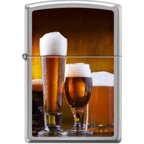 Zippo Lighter - Craft Beer Glasses Brushed Chrome - 854720