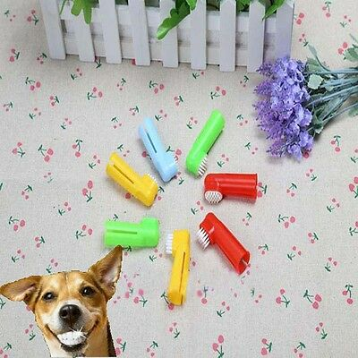 Hot 2X Finger Toothbrush Pet Dog Oral Dental Cleaning Teeth Care Hygiene Brush