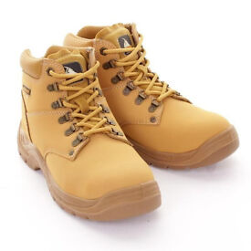 Mens Prospecta steel toe cap safety work boots leather upper. Size 9 (Euro 43). Brand new in box.