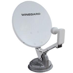 Crank-up satellite dish.