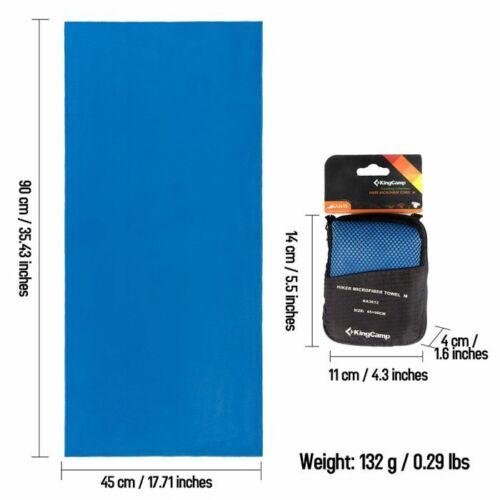 KingCamp Antibacterial Microfiber Towel Fast Drying, Soft & Lightweight 45X90Cm